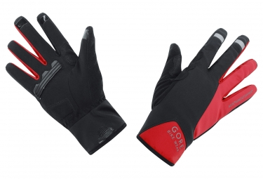 gants gore bike wear power windstopper noir rouge xl