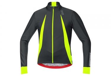 Maillot manches longues gore bike wear oxygen ws noir jaune fluo xl