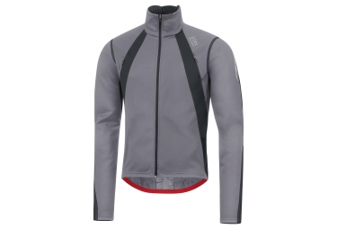 Veste gore bike wear oxygen windstopper gris noir s
