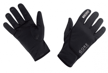 gants gore running wear essential windstopper noir l