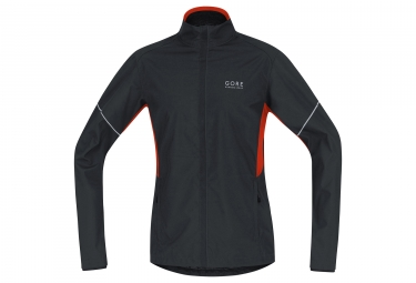 Veste gore running wear essential windstopper active shell noir rouge xl