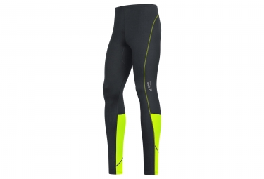 collant gore running wear essential noir jaune fluo xl