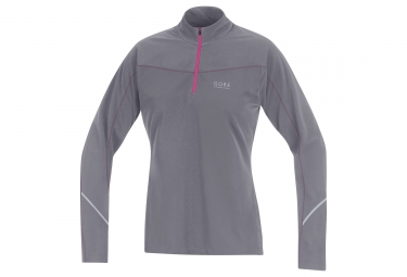 maillot manches longues femme gore running wear essential lady thermo gris m