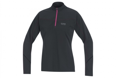 maillot manches longues femme gore running wear essential lady thermo noir xs