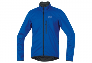 veste soft shell gore bike wear element windstopper bleu s