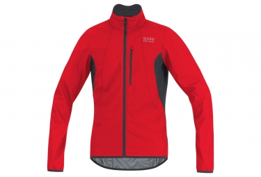 veste gore bike wear element windstopper rouge noir l