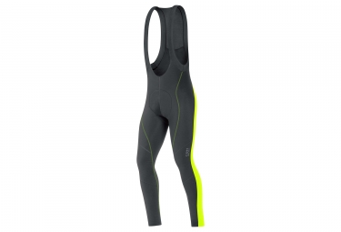 cuissard long gore bike wear element 2 0 thermo noir jaune fluo l