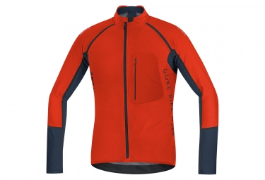 veste soft shell gore bike wear alp x pro windstopper orange noir m