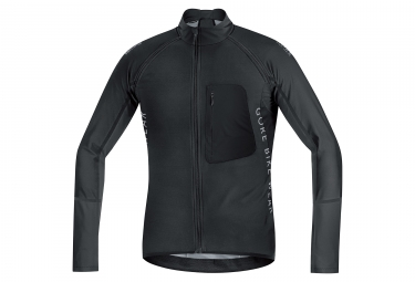 veste soft shell gore bike wear alp x pro windstopper noir m