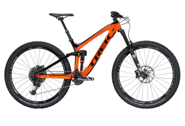 Vtt tout suspendu trek 2018 slash 9 8 29 sram gx eagle 12v project one orange noir 17 5 pouces 161 172 cm