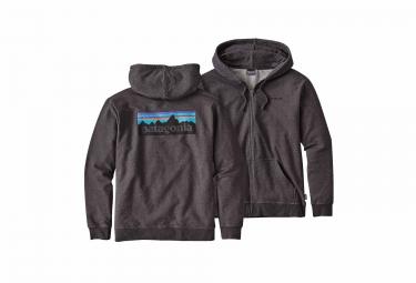 Sweat à Capuche Patagonia P6 Logo Noir