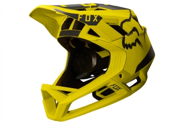 casque fox proframe moth jaune xl 61 64 cm