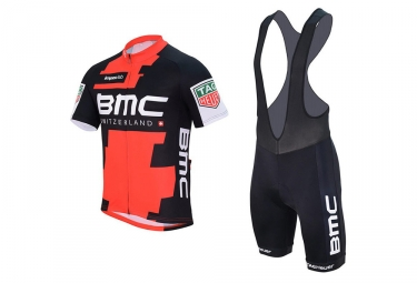 kit maillot cuissard bmc racing team 2017 rouge noir xxl