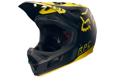 Casque fox rampage pro carbon moth noir jaune xl 61 62 cm
