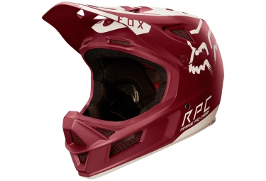 casque fox rampage pro carbon moth rouge xl 61 62 cm