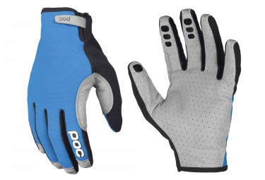 paire de gants longs poc index air adjustable bleu gris s