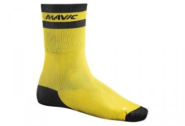 chaussettes mavic crossmax high jaune noir 35 38