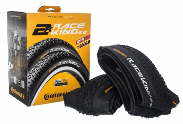 pack de 2 pneus continental race king sport 29x2 20 tubeless ready souple puregrip compound