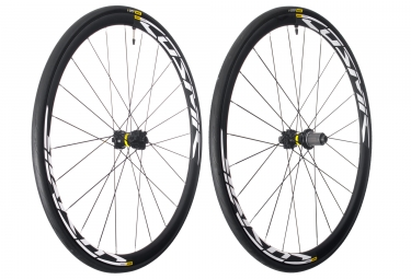 paire de roues mavic cosmic elite ust disc 12x100 142mm shimano sram yksion pro ust 25mm