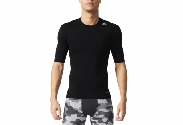 maillot manches courtes adidas running techfit base noir m