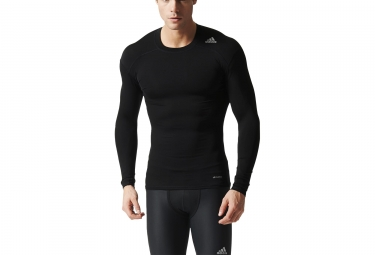 maillot manches longues adidas running techfit base noir l