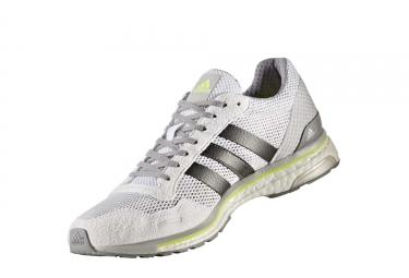 adidas running adizero adios 3 blanc gris homme 40 2 3