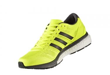 adidas running adizero boston 6 jaune fluo noir homme 42
