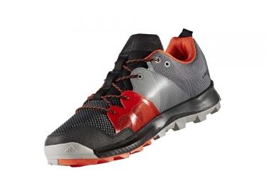 adidas running kanadia 8 1 trail noir gris orange homme 45 1 3