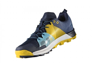 adidas running kanadia 8 1 trail bleu marine jaune homme 45 1 3