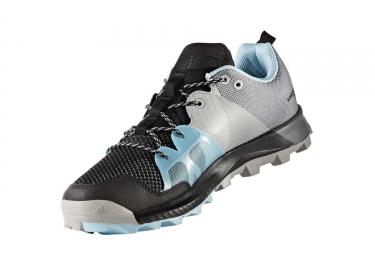 adidas running kanadia 8 1 trail gris noir bleu femme 37 1 3