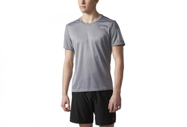Maillot manches courtes adidas running response gris m