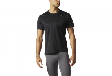 maillot manches courtes adidas running response noir s