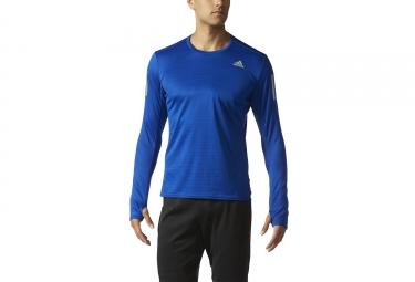 maillot manches longues adidas running response bleu l