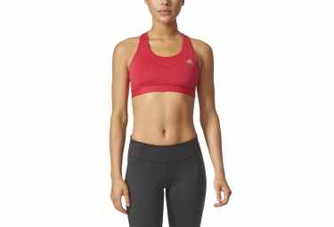 Brassière adidas running Techfit Rouge