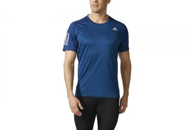 maillot manches courtes adidas running response bleu marine l