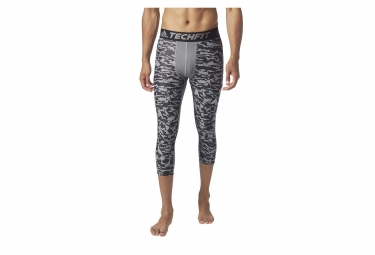 Collant 3/4 adidas running Techfit Chill Print Gris