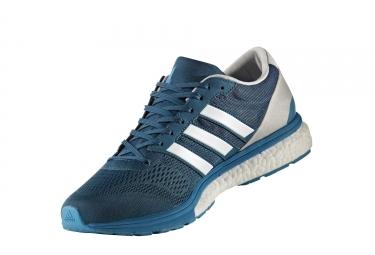adidas running adizero boston 6 bleu turquoise gris homme 44