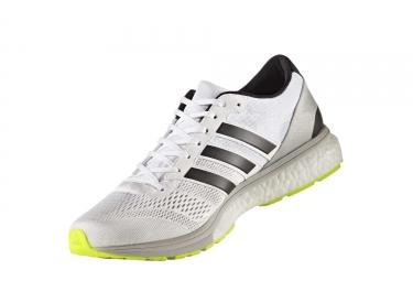 adidas running adizero boston 6 blanc gris homme 44