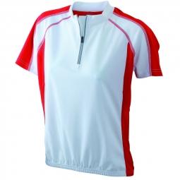 James et nicholson maillot cycliste femme jn419 blanc et rouge s