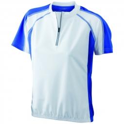 James et nicholson maillot cycliste femme jn419 blanc et bleu s