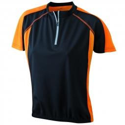 James et nicholson maillot cycliste femme jn419 noir et orange s