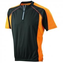 James et nicholson maillot cycliste homme jn420 noir et orange s