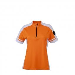 James et nicholson maillot cycliste femme jn451 orange s
