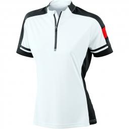 James et nicholson maillot cycliste femme jn451 blanc s