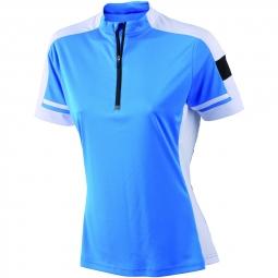 James et nicholson maillot cycliste femme jn451 bleu cobalt s