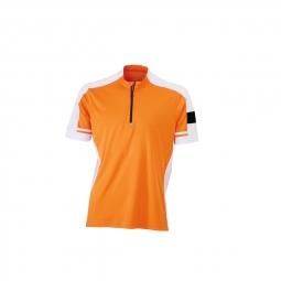 James et nicholson maillot cycliste homme jn452 orange s