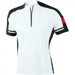 James et nicholson maillot cycliste homme jn452 blanc s