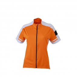 James et nicholson maillot cycliste zippe femme jn453 orange l