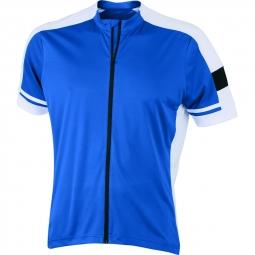 James et nicholson maillot cycliste zippe homme jn454 bleu cobalt s