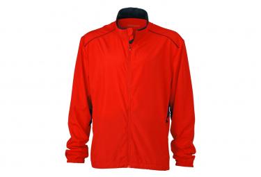 James et Nicholson veste légère running jogging JN476 - rouge grenadine - homme - course à pied